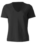 V Neck with Notches - Black