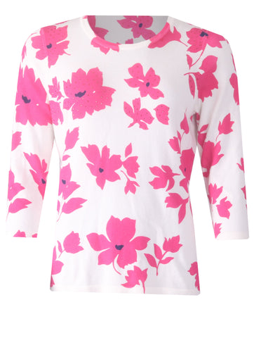 Flower Jumper - Fuschia/Navy