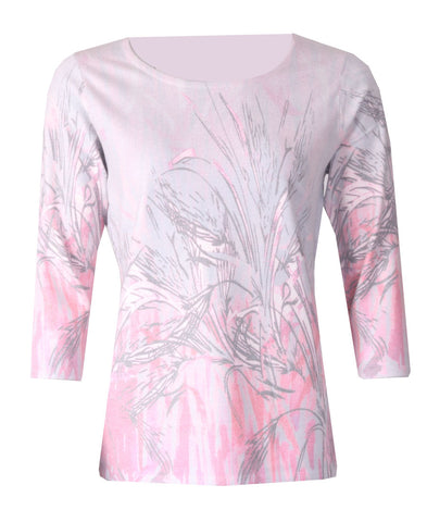 Luxury Print Jumper - Winter Rose