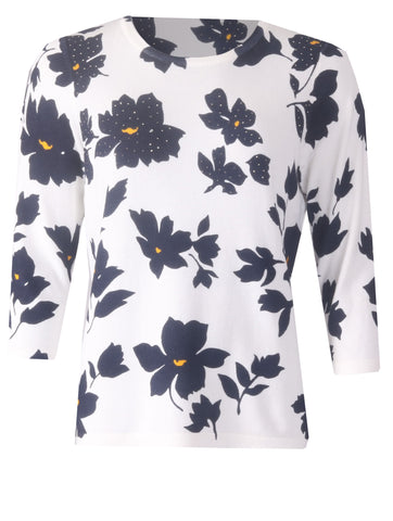 Flower Jumper - Navy/Yellow