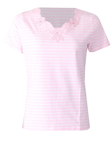 Stripe Top - Soft Pink