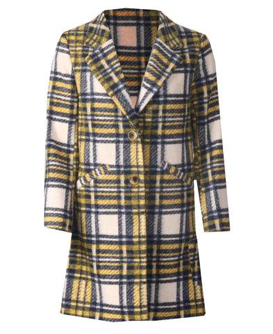 S.B Coat - Mustard Stripe