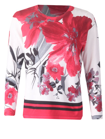 Floral Jumper - Pink/Black