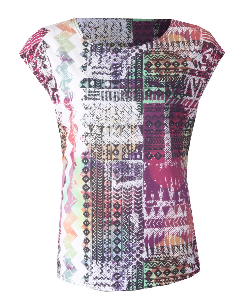 Sleeveless Top - Multi Abstract