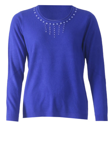 Diamonte Jumper - Cobalt