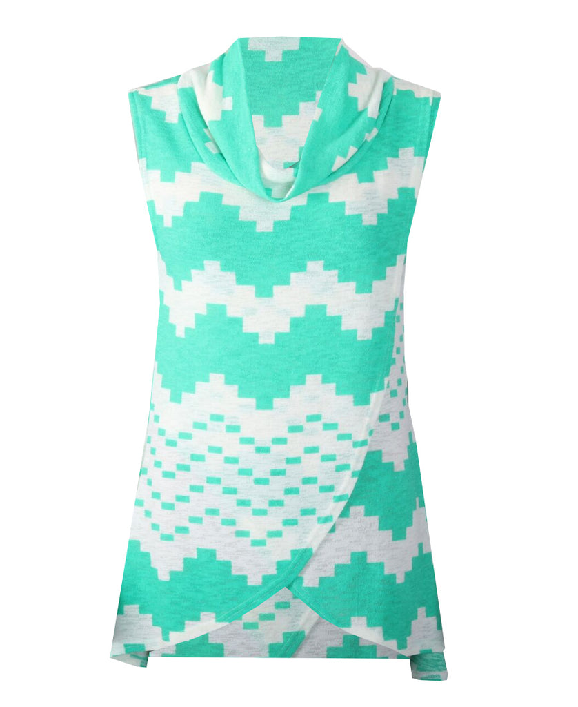 Sleeveless Cowl Neck - Mint