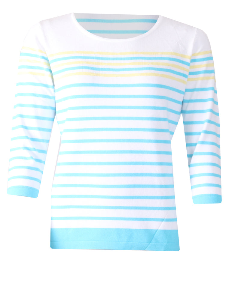 Striped Bubble Jumper - Yellow/Blue