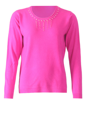 Diamonte Jumper - Fuschia