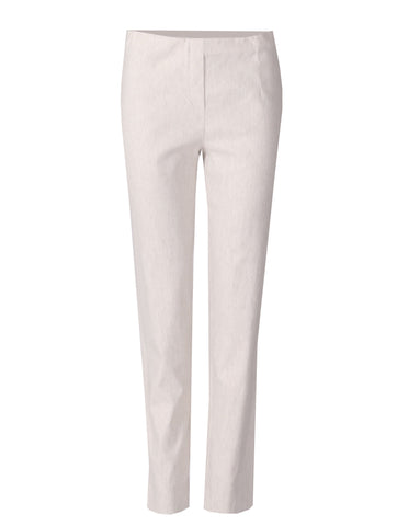 Short Linen Mix Trousers - Beige