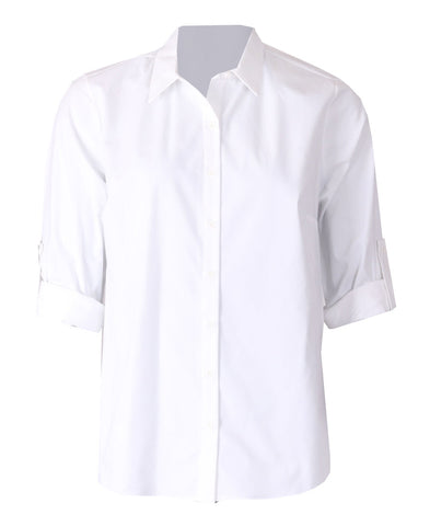 Stretch Cotton Shirt - White