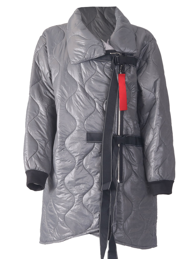 Padded 2 Buckle Coat - Charcoal