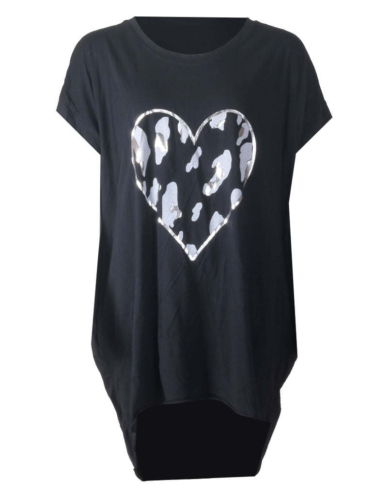 Love Heart Top - Black