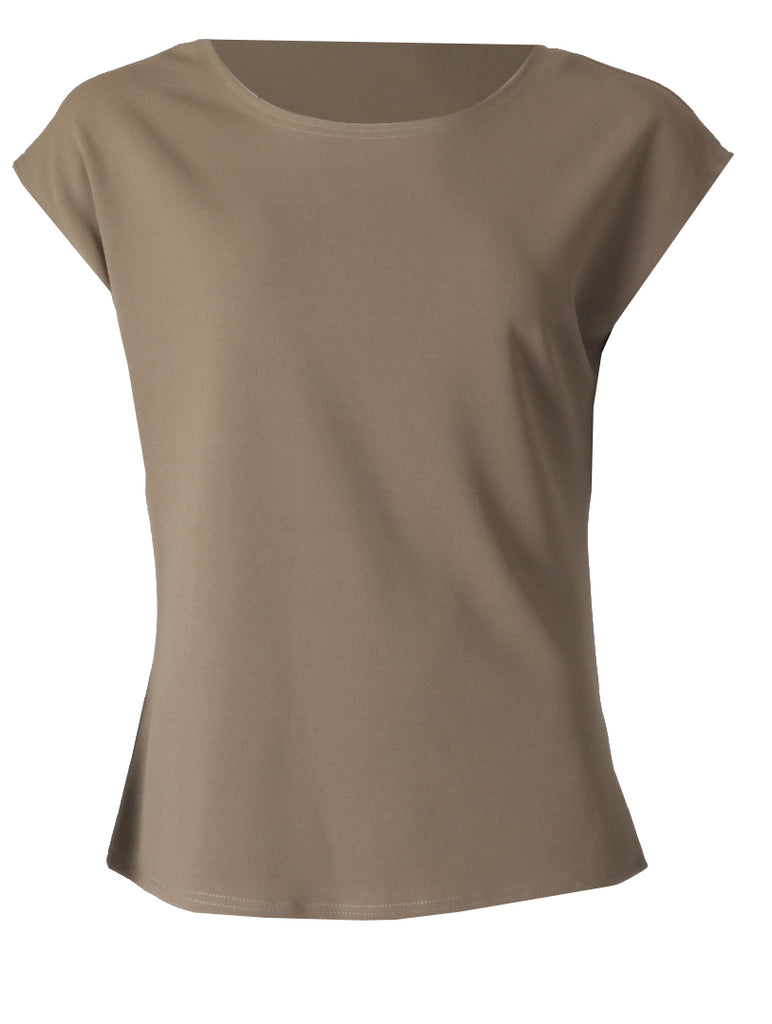 Round Neck Top - Khaki