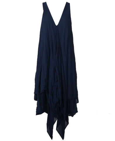 Button Dress - Navy