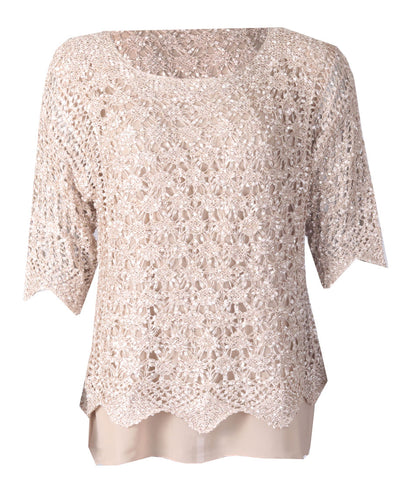 Luxury Lace Top - Gold