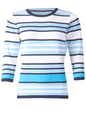 Striped Pullover - Ice Blue