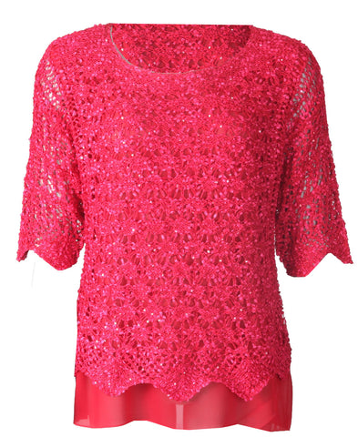 Luxury Lace Top - Red