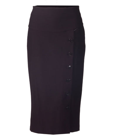 Side Button Skirt - Plum
