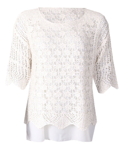 Luxury Lace Top - Ivory