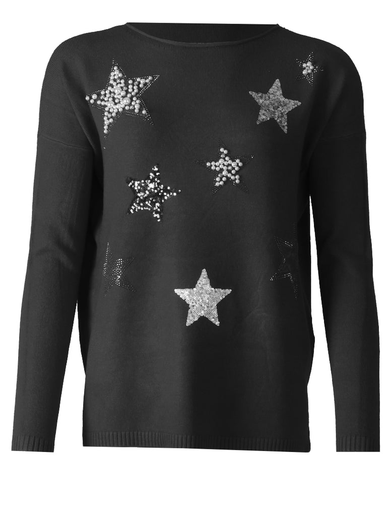 Star Knit - Black