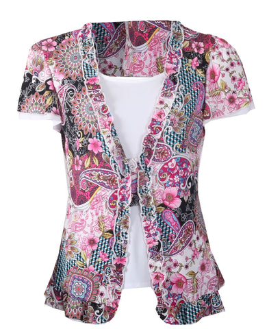Anna Top - Pink Multi