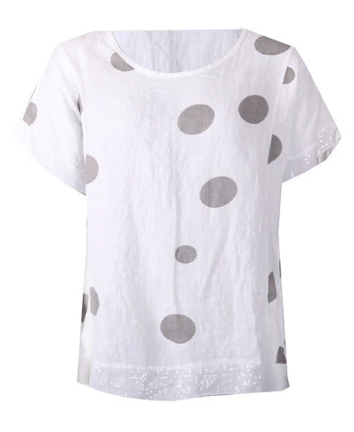 Spotted Tunic - White