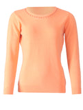Round Neck Pullover - Fresh Orange