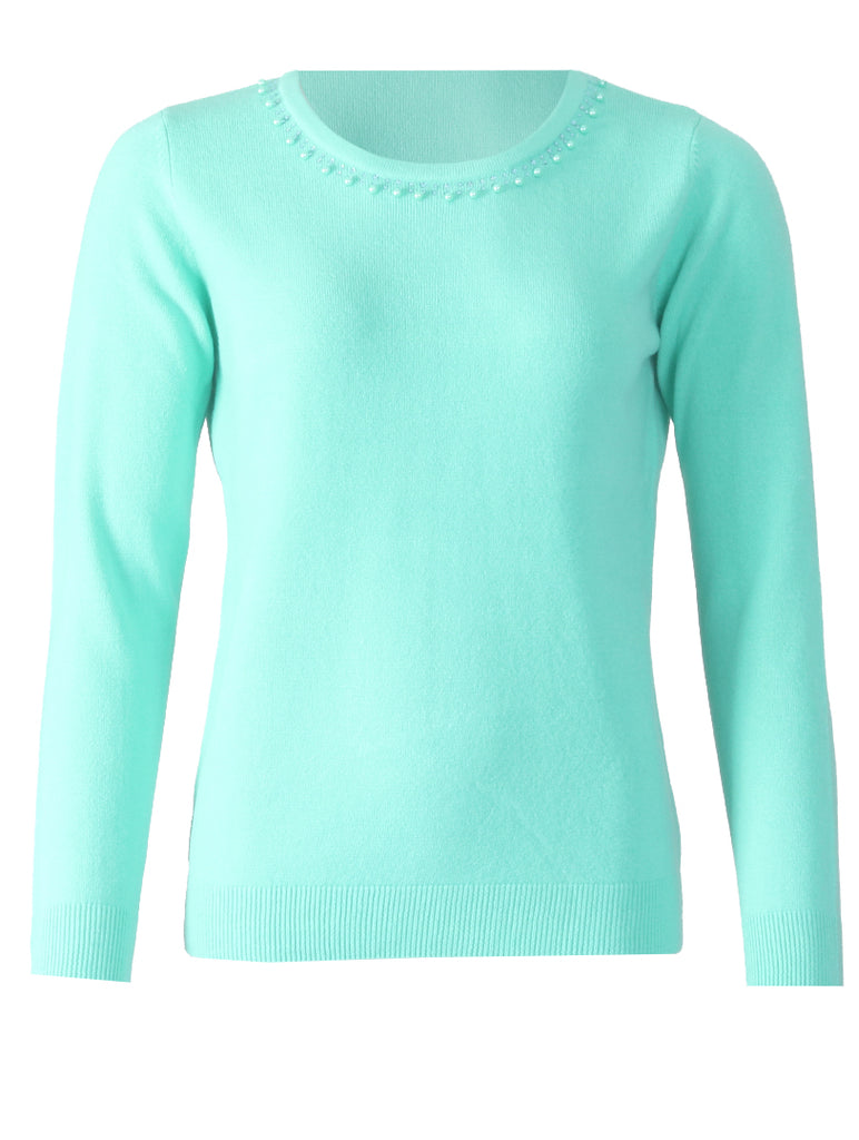 Round Neck Pullover - Fresh Mint