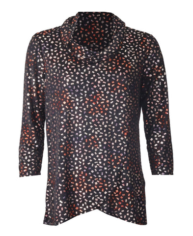 Luxury Lurex Top - Black Multi