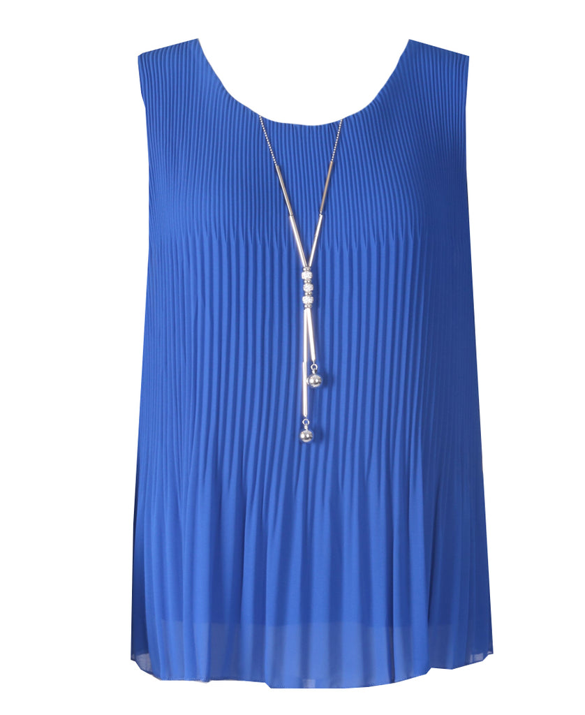 Sleeveless Ribbed Top - Royal