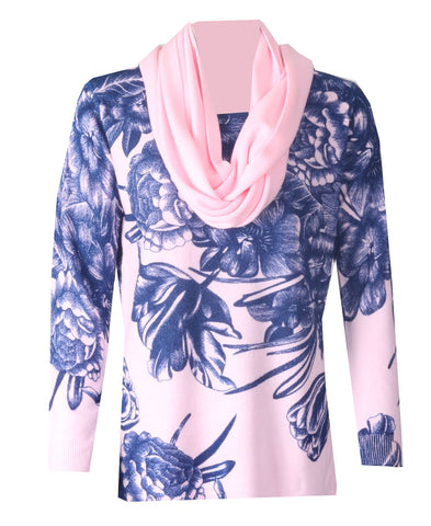 Luxury Scarf Jumper - Pink