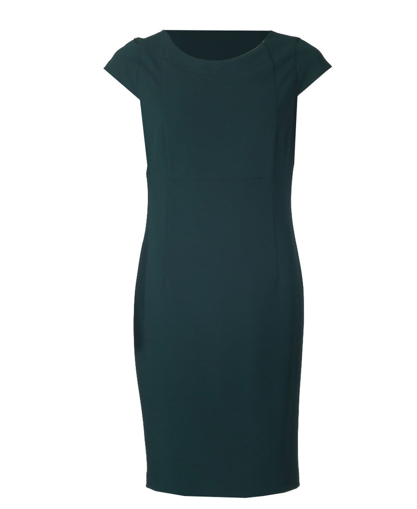 Molly Crepe Dress - Forest Green