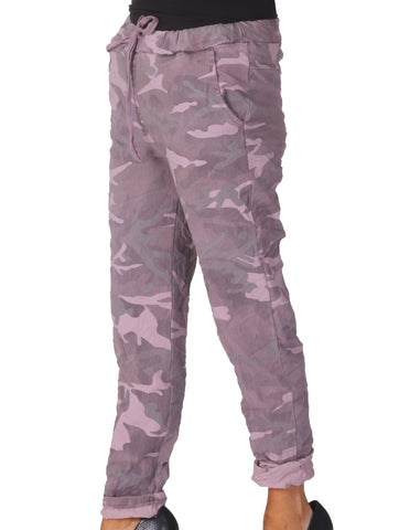 Magic Camo Trousers - Pink