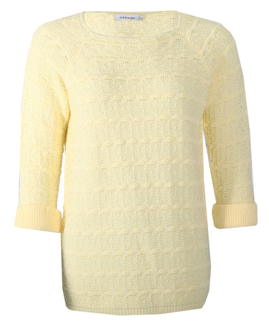 3/4 Sleeve Jumper - Lemon