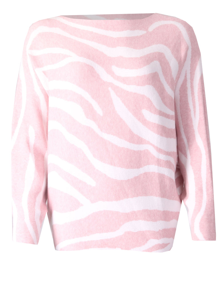 Zebra Jumper - Pink/Cream