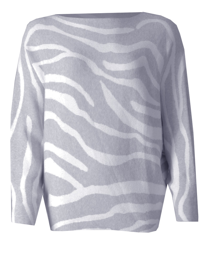 Zebra Jumper - Silver/Cream