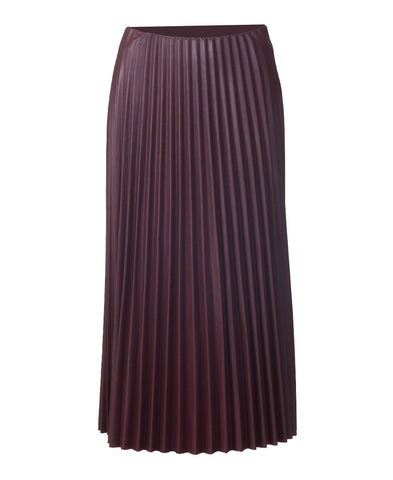 Pleated Skirt - Wine