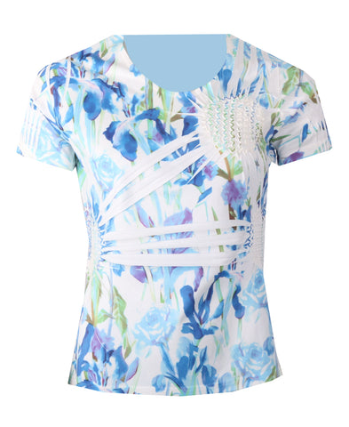 Tonal Pineapple Top - Blue
