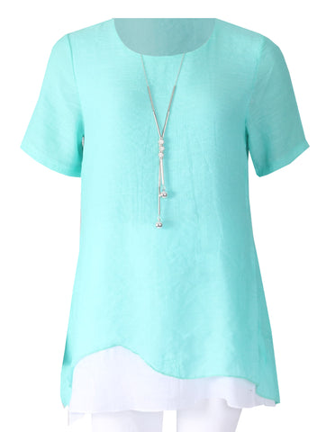 Tunic with necklace - Spearmint