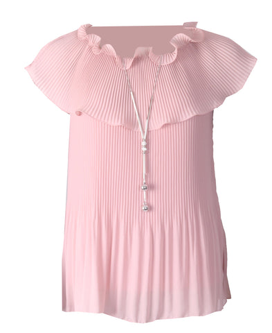 Pleated Cowl Top - Dusky Pink