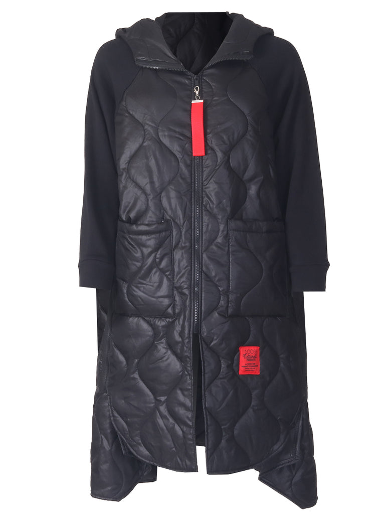 Red Label Coat - Black