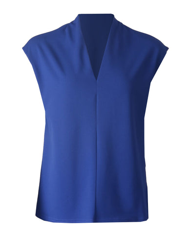 Sleeveless V Neck Top - Royal