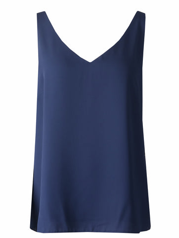 Sleeveless Top - Navy