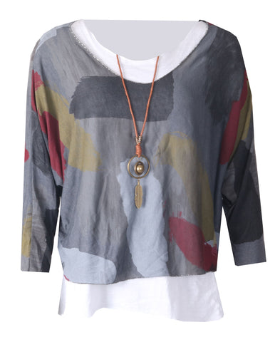 Necklace Top - Charcoal