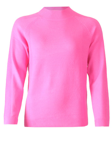 Turtle Neck Jumper - Pink Pop