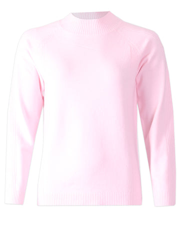 Turtle Neck Jumper - Baby Pink