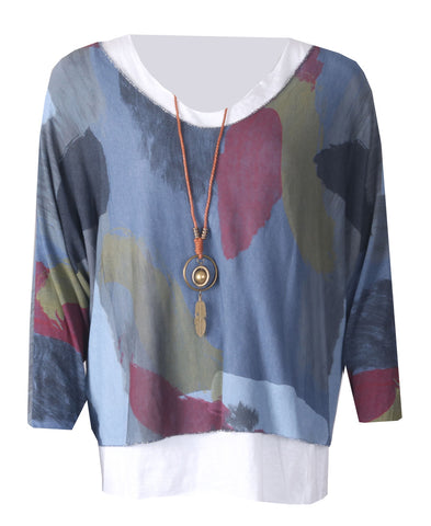 Necklace Top - Denim