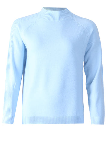 Turtle Neck Jumper - Baby Blue