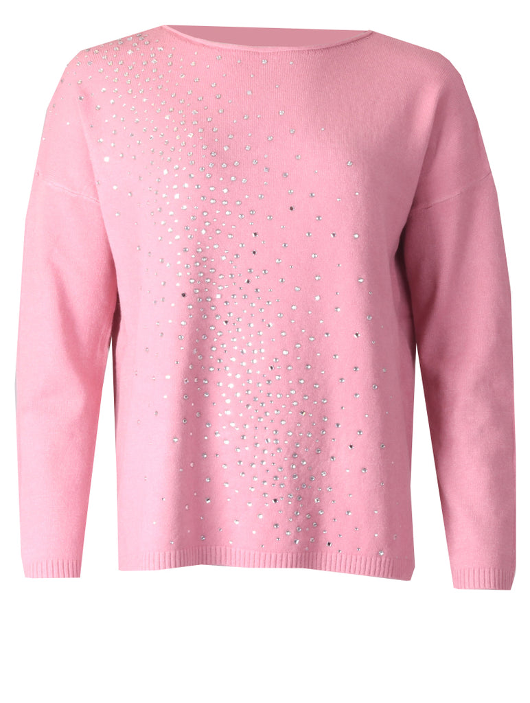 Diamonte Splash Jumper - Pink