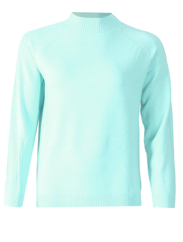 Turtle Neck Jumper - Powdery Turq